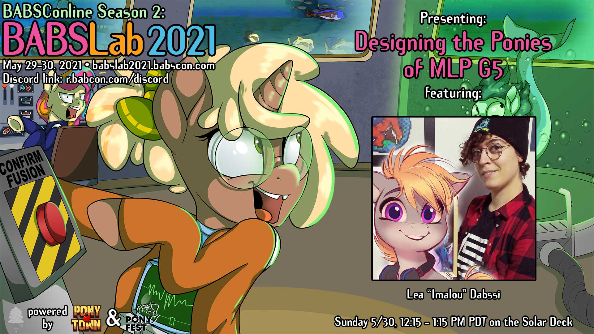 """BABSLab 2021 Talks MLP G5 Character Design with Lea """"Imalou"""" Dabssi"""